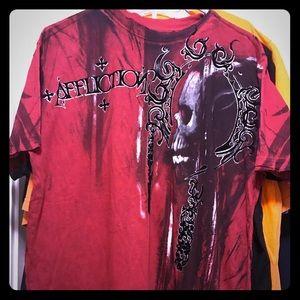 Dark red AFFLICTION shirt - like new!!!